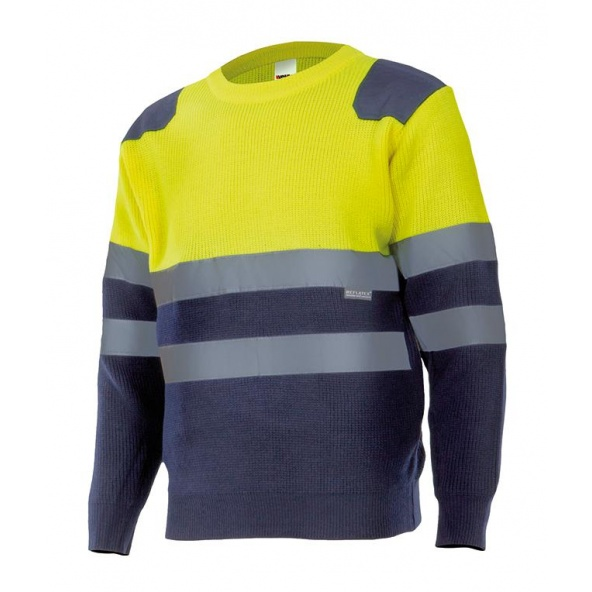 Comprar Jersey bicolor alta visibilidad serie 179 online barato Sup Ama/Inf Marino