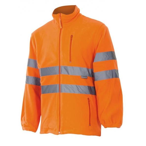 Comprar Chaqueta polar alta visibilidad (tallas grandes) serie 181 online barato Naranja Fluor
