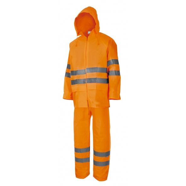 Comprar Traje de lluvia dos piezas alta visibilidad serie 189 online barato Naranja Fluor