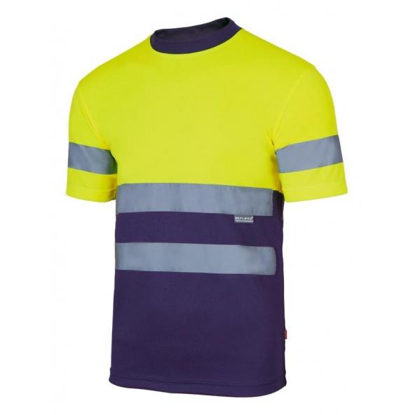 Comprar Camiseta tecnica bicolor alta visibilidad serie 305506 online barato Sup Ama/Inf Marino