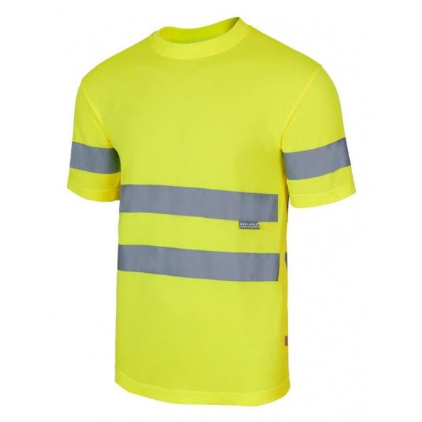 Comprar Camiseta tecnica alta visibilidad serie 305505 online barato Amarillo Fluor