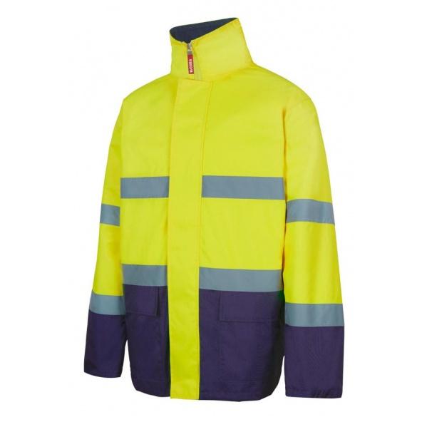 Comprar Parka bicolor alta visibilidad (tallas grandes) serie 306002 online barato Sup Ama/Inf Marino