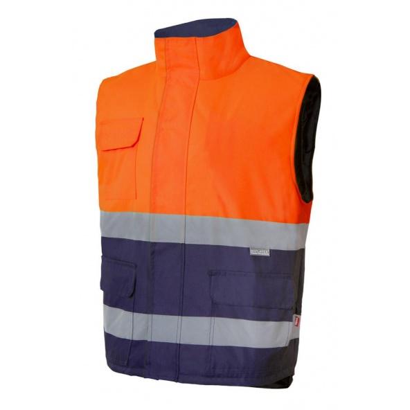 Comprar Chaleco acolchado bicolor alta visibilidad serie 305902 online barato Naranja Fluor