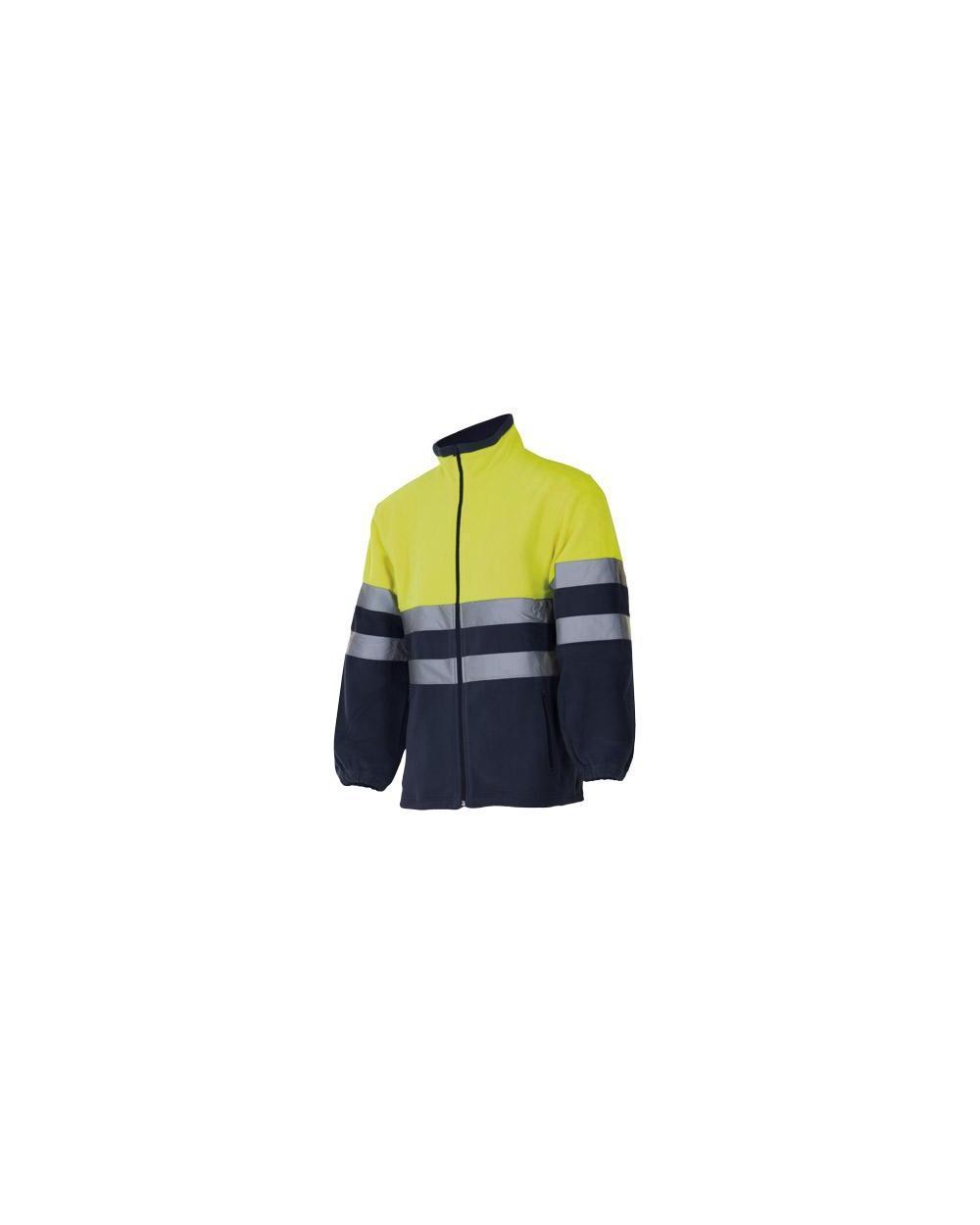 Comprar Chaqueta polar bicolor alta visibilidad serie 301503 online barato Amarillo Fluor