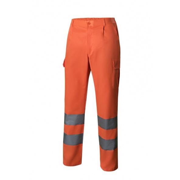 Comprar Pantalón multibolsillos alta visibilidad serie 303006 online barato Naranja Fluor