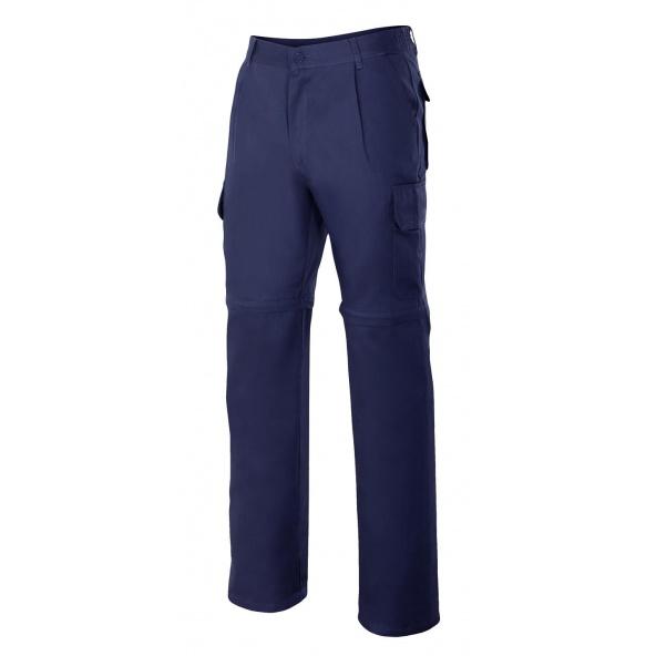 Comprar Pantalón desmontable multibolsillos serie 346 online barato Azul Marino
