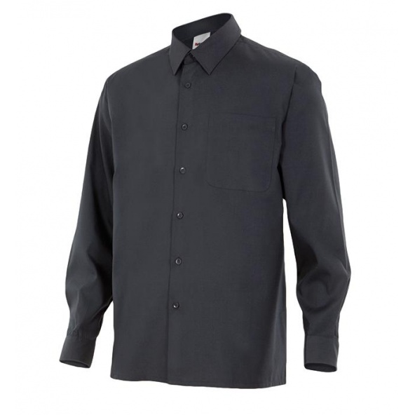 Comprar Camisa manga larga un bolsillo serie 529 online barato Negro