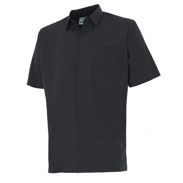Comprar Camisa manga corta un bolsillo serie 531 online barato Negro