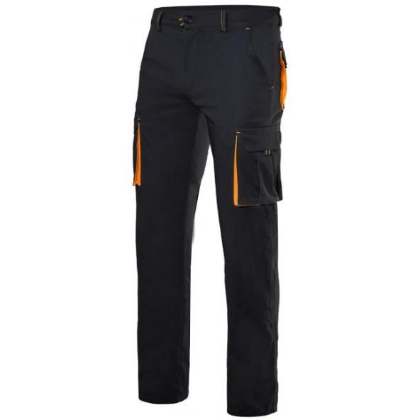 Comprar Pantalón stretch bicolor multibolsillos serie 103008s online barato Negro/Nar.Flour