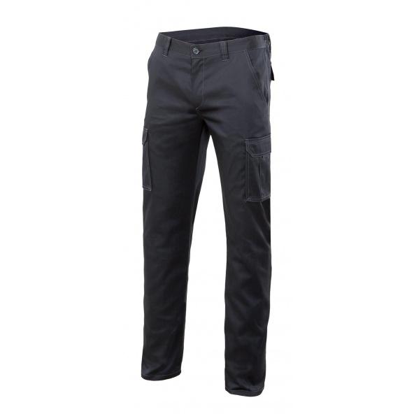 Comprar Pantalón stretch multibolsillos serie 103002s online barato Negro
