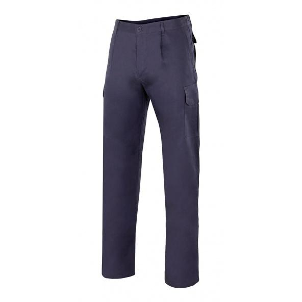 Comprar Pantalón 100% algodon multibolsillos serie 343 online barato Azul Marino