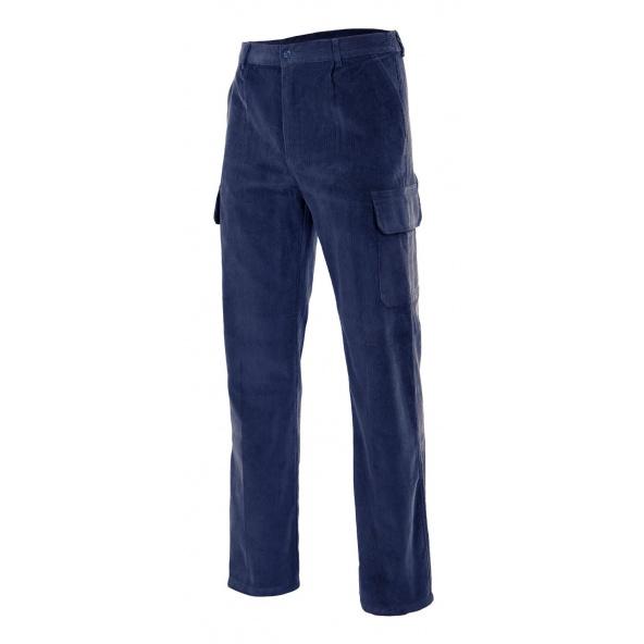 Comprar Pantalón pana multibolsillos serie 380 online barato Azul Marino