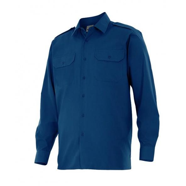 Comprar Camisa manga larga con galoneras serie 530 online barato Azul Marino
