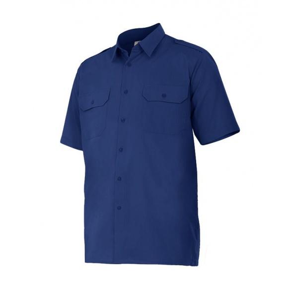 Comprar Camisa manga corta con galoneras serie 532 online barato Azul Marino