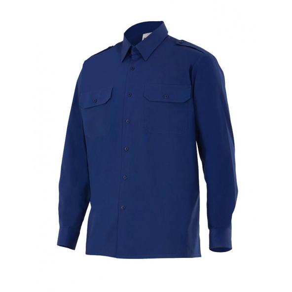 Comprar Camisa de algodon de manga larga serie 534 online barato Azul Marino