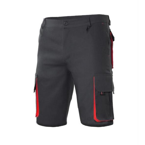Comprar Bermudas bicolor multibolsillos serie 103007 online barato Negro/Rojo
