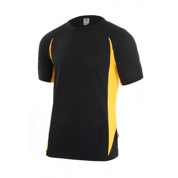 Comprar Camiseta tecnica bicolor serie 105501 online barato Negro/Amarillo