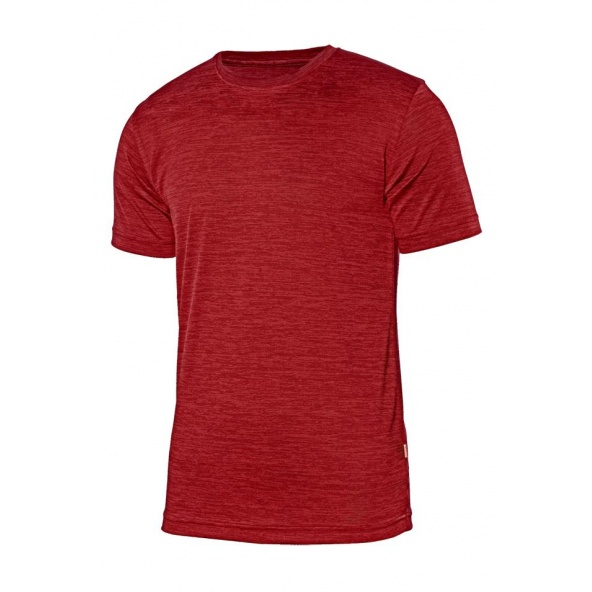 Comprar Camiseta tecnica jaspeada serie 105507 online barato Rojo Jaspeado