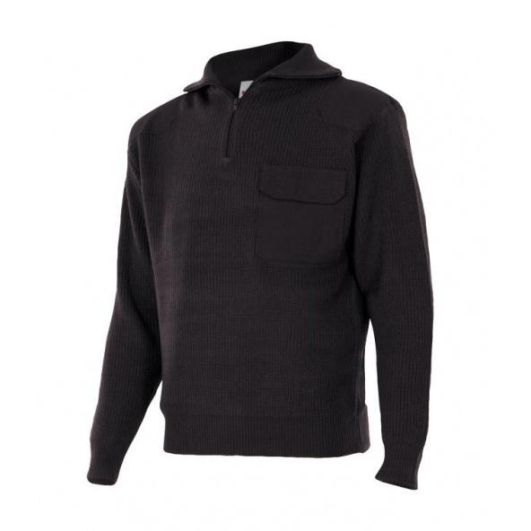 Comprar Jersey de punto grueso de cuello alto serie 101 online barato Negro