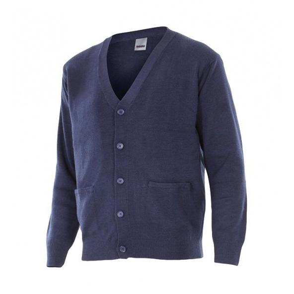 Comprar Chaqueta punto fino serie 103c online barato Azul Marino