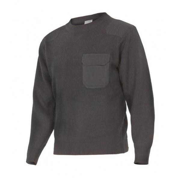 Comprar Jersey punto grueso con cuello redondo serie 100 online barato Gris