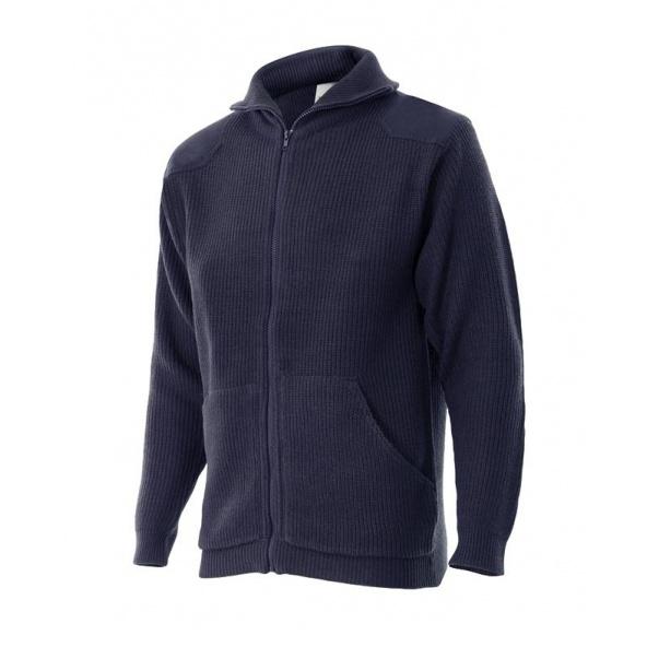 Comprar Chaqueta punto grueso con cuello alto serie 102 online barato Azul Marino