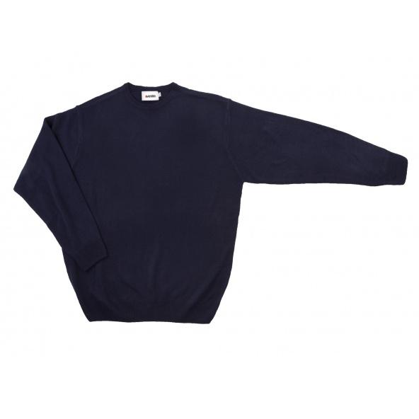 Comprar Jersey punto fino con cuello redondo serie 105 online barato Azul Marino