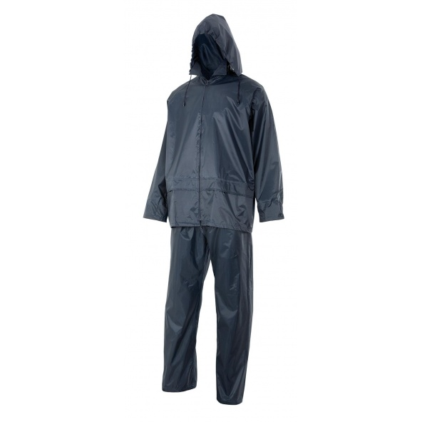 Comprar Traje de lluvia dos piezas con capucha oculta serie 195 online barato Azul Marino