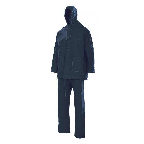Comprar Traje de lluvia dos piezas con capucha serie 19000 online barato Azul Marino