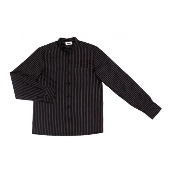 Comprar Camisa con cuello mao serie listan_ry online barato Negro