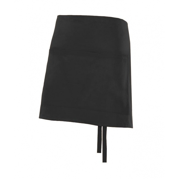 Comprar Delantal corto con bolsillo serie subirat online barato Negro