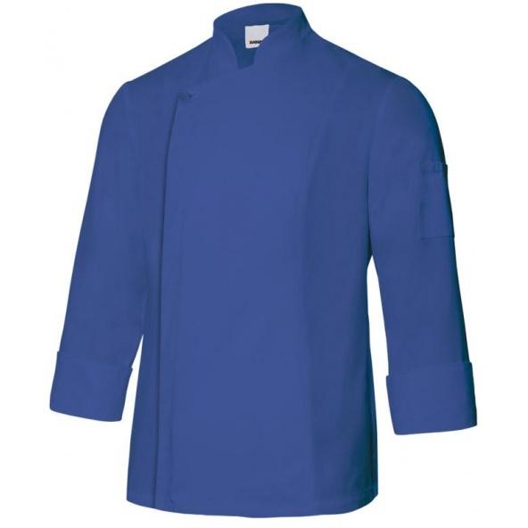 Comprar Chaqueta de cocina con cremallera serie 405202tc online barato Azul Ultramar