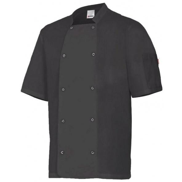 Comprar Chaqueta de cocina con automaticos manga corta serie 405205 online barato Negro
