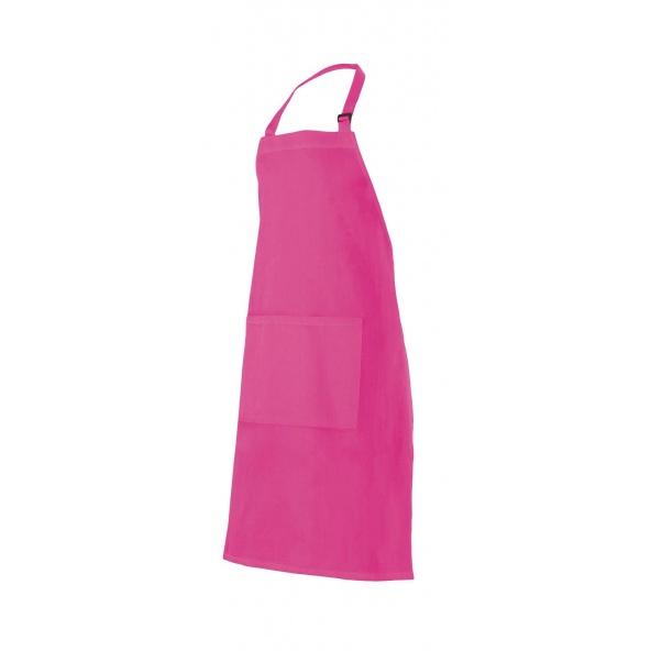 Comprar Delantal peto con bolsillo serie 404203 online barato Fucsia