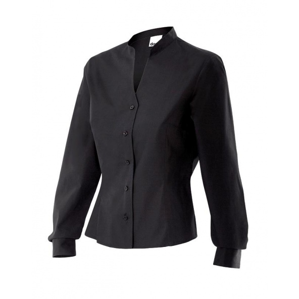 Comprar Camisa cuello mao mujer serie viura online barato Negro