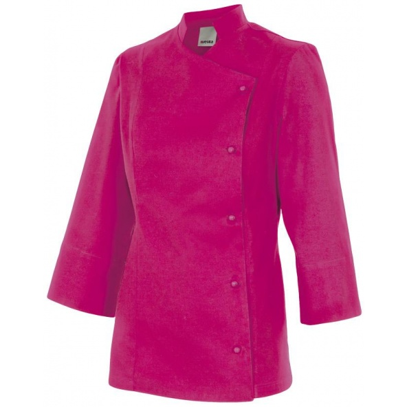 Comprar Chaqueta de cocina mujer serie melisa online barato Fucsia