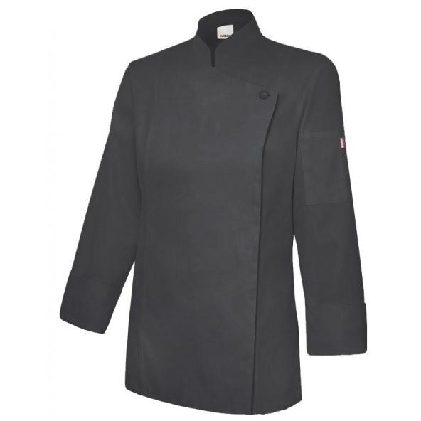 Comprar Chaqueta de cocina mujer con cremallera serie 405203tc online barato Negro
