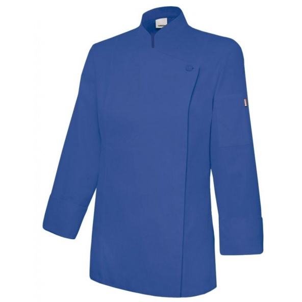 Comprar Chaqueta de cocina mujer con cremallera serie 405203tc online barato Azul Ultramar