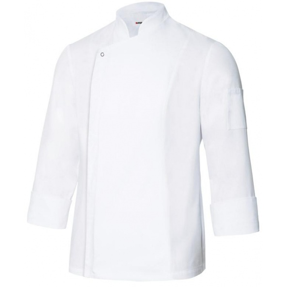 Comprar Chaqueta de cocina con tejido transpirable serie 405204 online barato Blanco