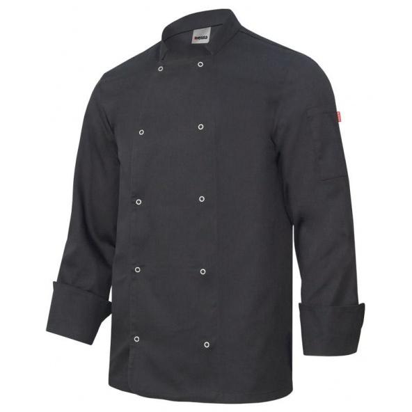 Comprar Chaqueta de cocina con automaticos manga larga serie 405206 online barato Negro