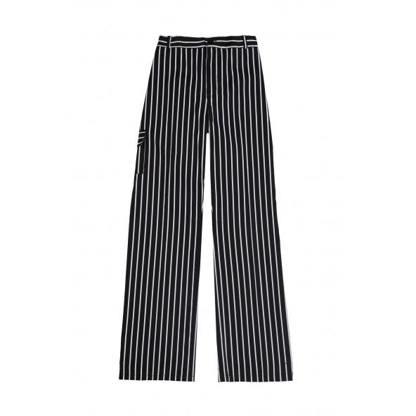 Comprar Pantalón de cocina antimanchas serie oregano_50 online barato Rayas Negras