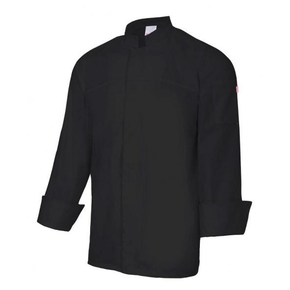 Comprar Chaqueta de cocina con cierre central serie 405208 online barato Negro