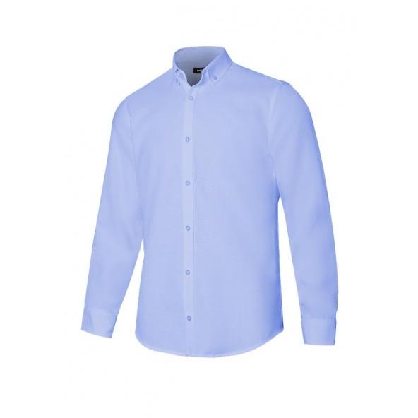 Comprar Camisa oxford stretch manga larga hombre serie 405004s online barato Celeste