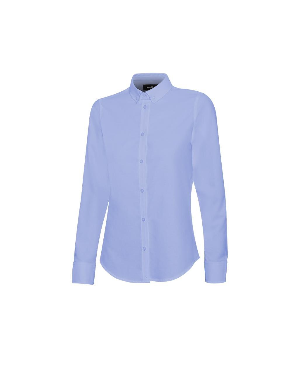 Comprar Camisa oxford stretch manga larga mujer serie 405005s online barato Celeste