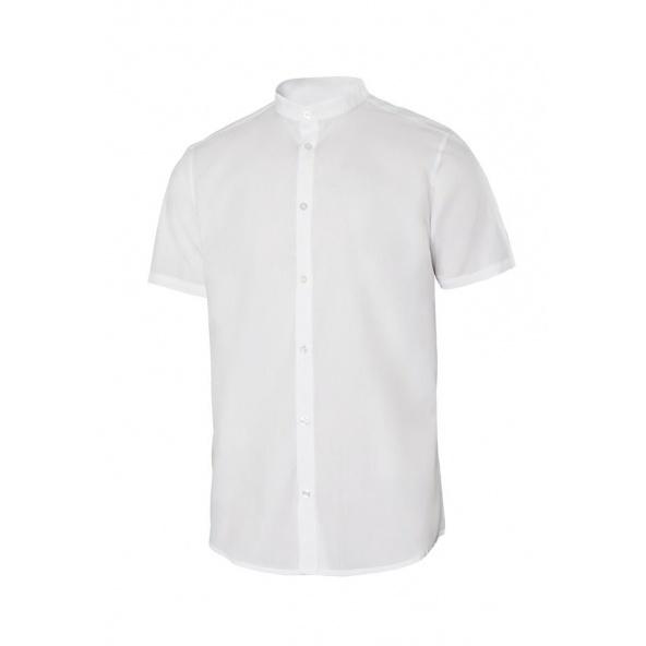 Comprar Camisa cuello tirilla stretch manga corta serie 405012s online barato Blanco
