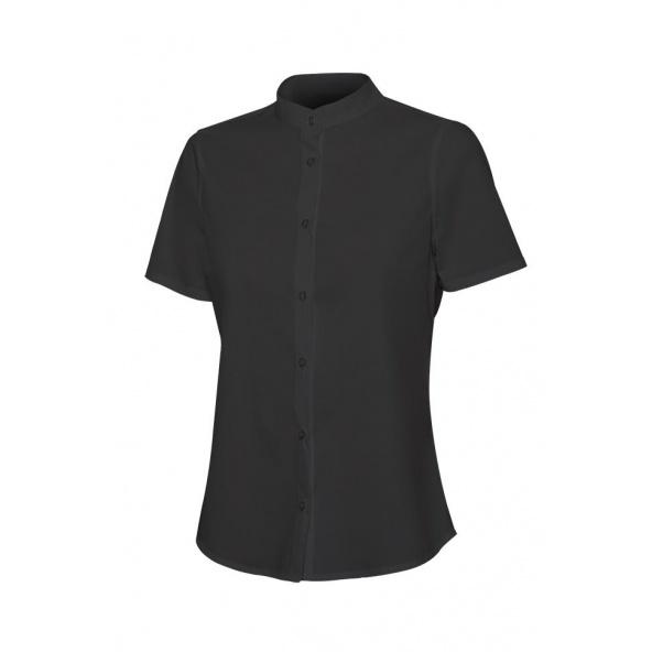 Comprar Camisa cuello tirilla stretch manga corta mujer serie 405014s online barato Negro