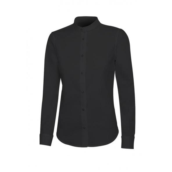 Comprar Camisa cuello tirilla stretch manga larga mujer serie 405015s online barato Negro